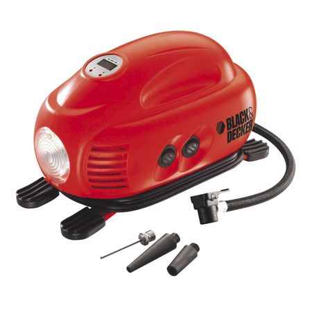 Compresor auto Black & Decker ASI200, 8,27 bar, adaptor 12V DC